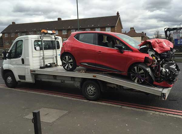 Recovered vehicle
