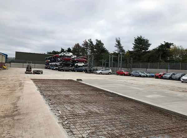 concreted area at OEM green parts site