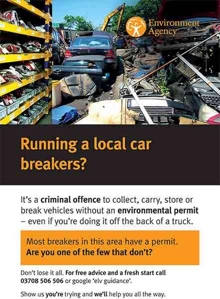 running a local car breakers