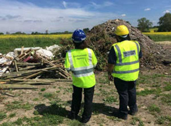 27 illegal waste sites uncovered by Environment Agency and HMRC sting