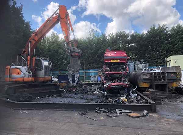 Charlton Recycled Auto Parts Ltd at work