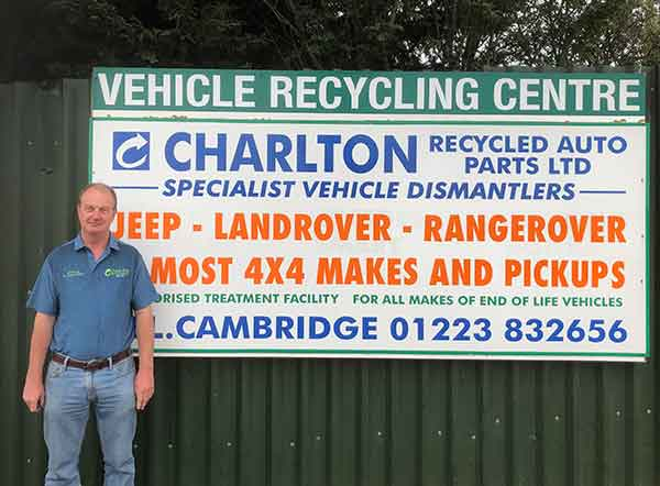 Terry Charlton 4x4 vehicle dismantler