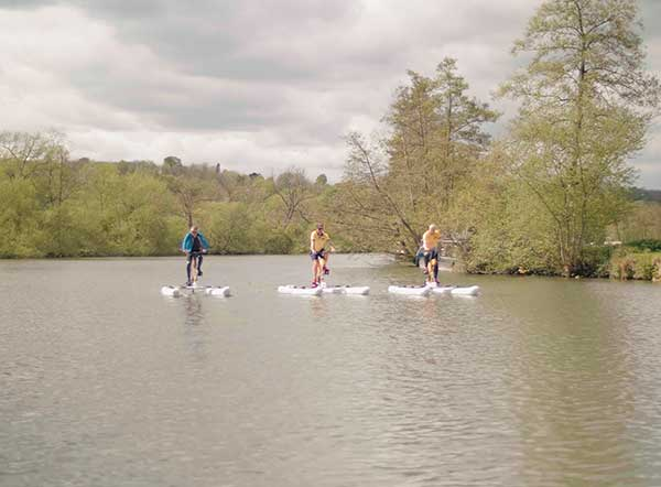 Three automotive leaders tackle Thames Waterbike Ride