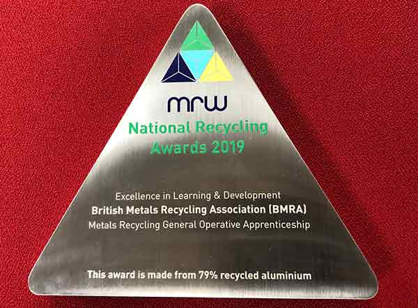 BMRA and partner companies win National Recycling Award for first sector-specific apprenticeship