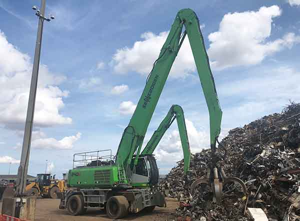 Ward's new Sennebogen 840 will increase metal processing capabilities at Immingham