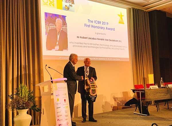ICBR Honorary Award for Huibert Jacobus Hendrik van Deutekom