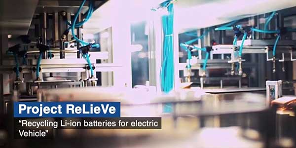 ReLieVe project to receive funding to develop process to recycle L-ion batteries from EVs