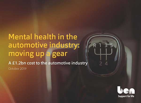 Mental health could cost automotive industry employers up to £1.2bn a year