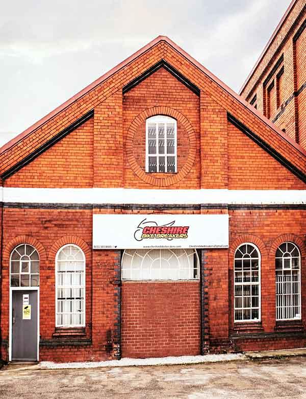 Cheshire Bike Breakers building
