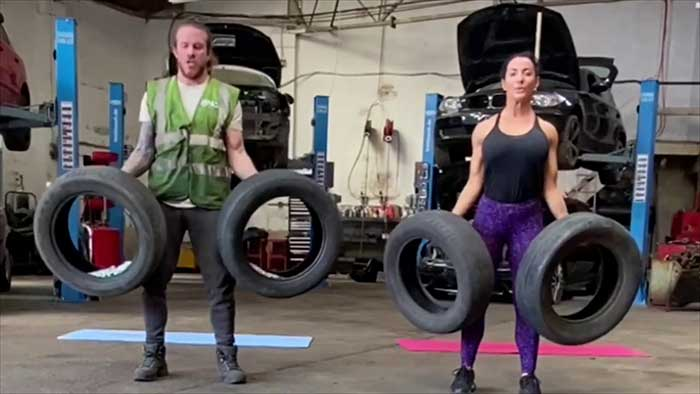 BHA Auto Recycling tyre work out John and Ria