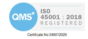 copart awarded ISO 45001 badge