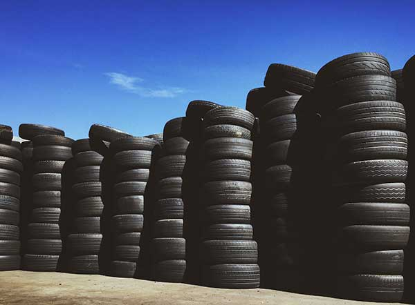 wastefront site in UK tyre recycling feat