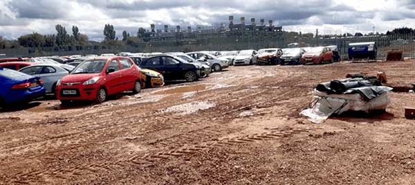 New 25000sqm Yard Facility at UK's Largest Salvage and Vehicle Recycling Company - SYNETIQ before