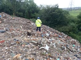 illegal waste site lancashire raided by waste crime taskforce post