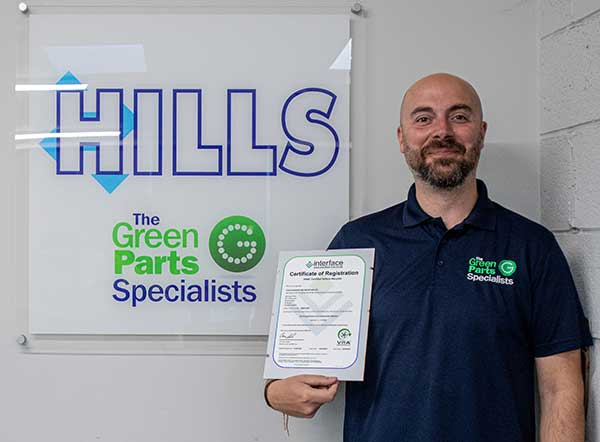 Hills Salvage & Recycling awarded acclaimed VRAC Certified Vehicle Recycler certification f
