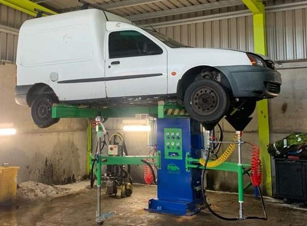 Green Car 'All in One' depollution systems installed at Recycling Lives p two