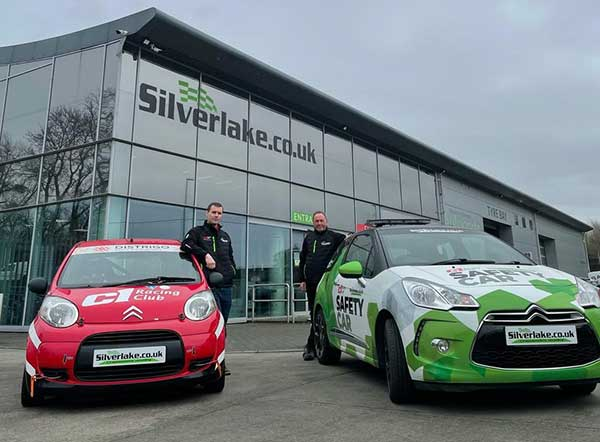 Robin Welsh, C1 Racing Club and Allen Prebble, MD, Silverlake Automotive Recycling launch 2021 Silverlake C1 Racing Series f
