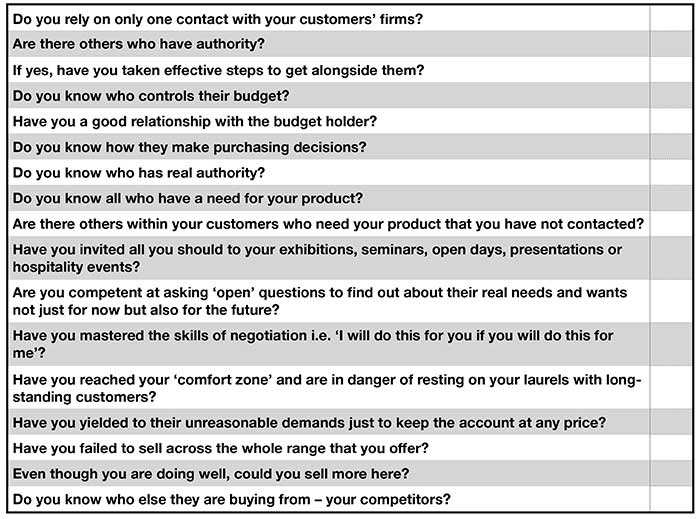 Customer care: Who Cares Wins! table p two