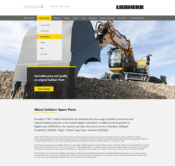 Liebherr-Great Britain cuts costs of spares p two