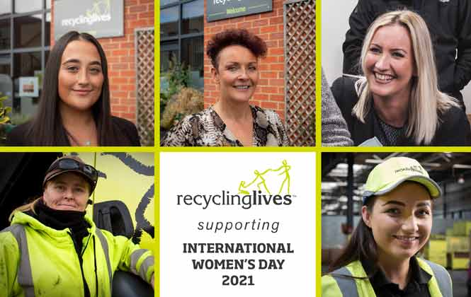 Recycling Lives Support International Women's Day p five