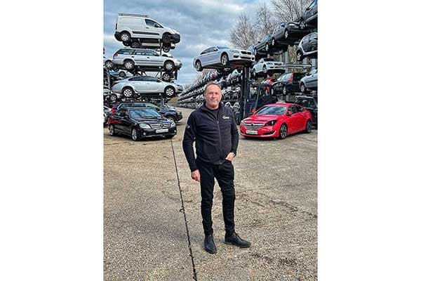 Celebrating 75 years, Allen Prebble, Managing Director, Silverlake Automotive Recycling, Hampshire's largest automotive recycler fourteen