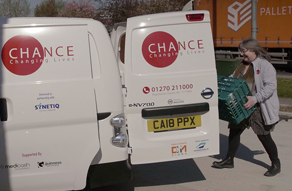 Chance Changing Lives and SYNETIQ work together to drive down homelessness, hunger and poverty p two re