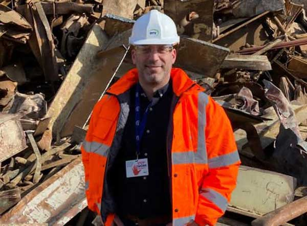 EMR welcomes Simon Bastin-Mitchell as part of new vehicle recycling efforts feat