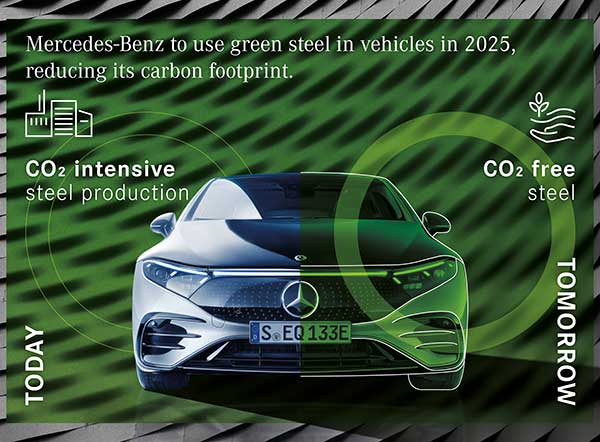 Mercedes-Benz to reduce carbon footprint by using green steel in vehicles in 2025 p