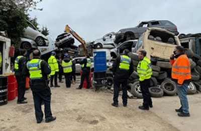 Environment Agency and eBay crack down on illegal vehicle breakers p