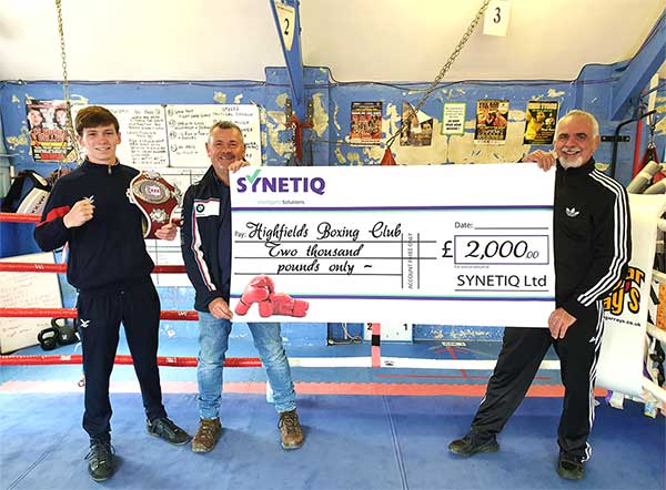 SYNETIQ donate to Doncaster boxing club to save being knocked out following lockdown closure