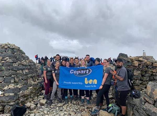 Copart's 3 Peaks Challenge raises £5000 for Ben Automotive Charity