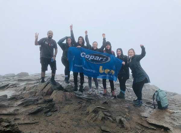 Copart's 3 Peaks Challenge raises £5000 for Ben Automotive Charity p