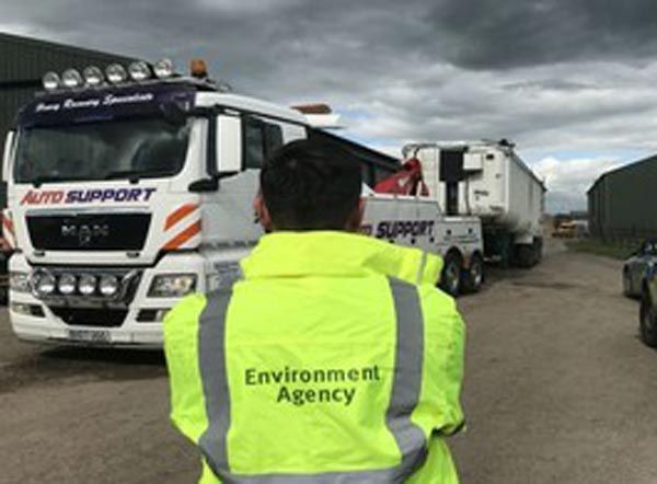 Vehicles seized in multi-agency operation to curtail waste crime f