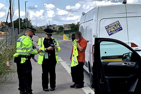 Waste vehicles seized at road stops in Kent in multi-agency operation p one