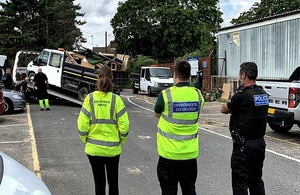 Waste vehicles seized at road stops in Kent in multi-agency operation p three